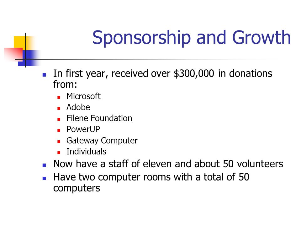 Sponsorship and Growth