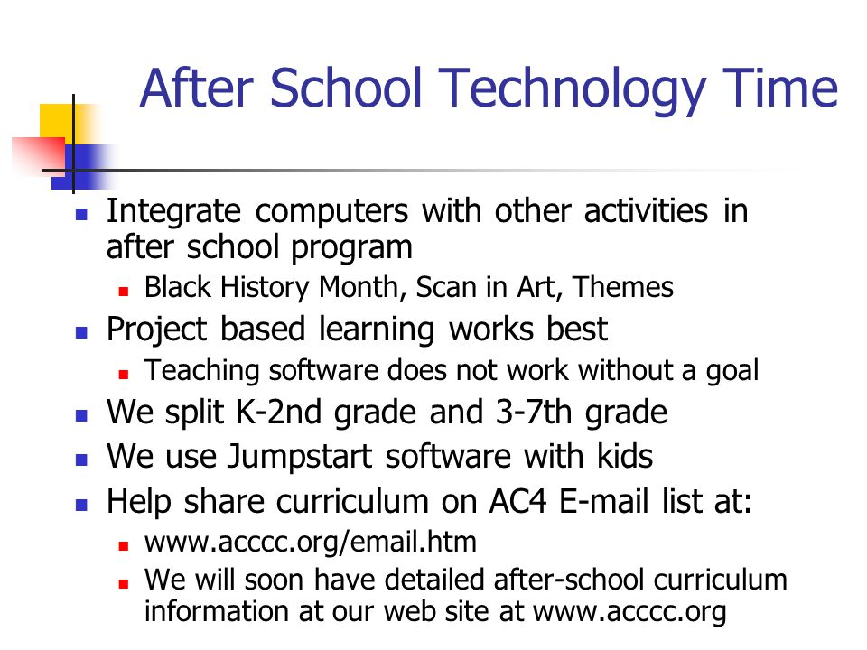 After School Technology Time