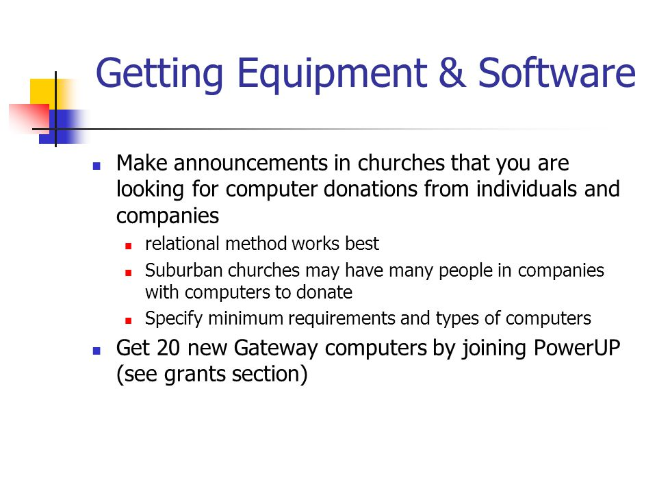 Getting Equipment & Software
