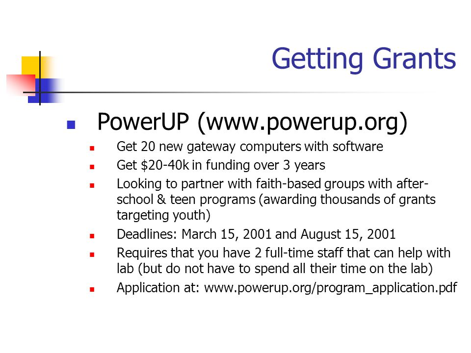Getting Grants PowerUP (www.powerup.org)