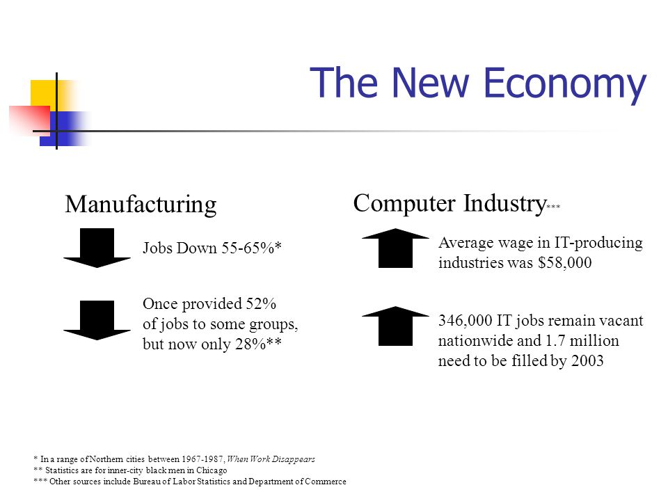 The New Economy Manufacturing Computer Industry***