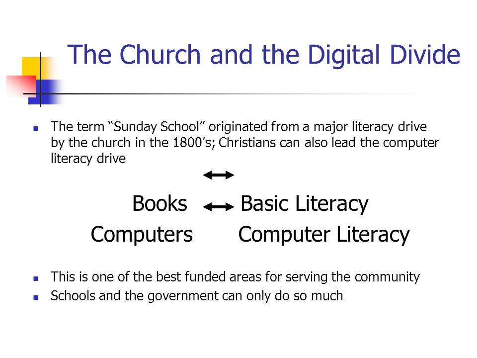The Church and the Digital Divide