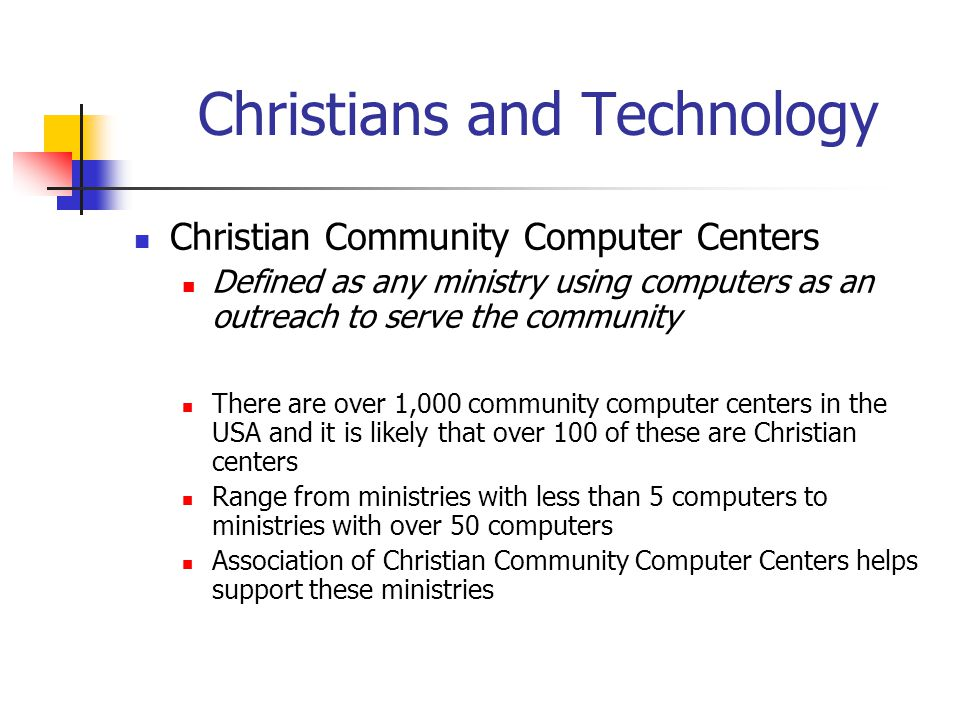 Christians and Technology