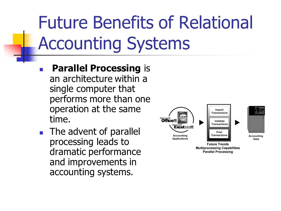 Future Benefits of Relational Accounting Systems