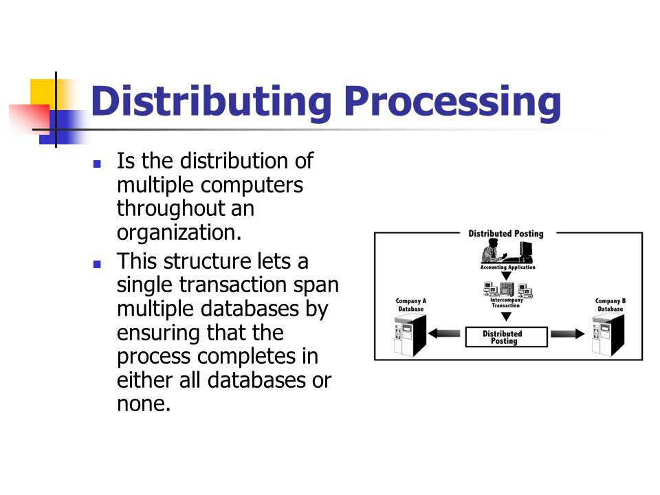 Distributing Processing