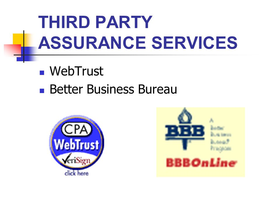 THIRD PARTY ASSURANCE SERVICES