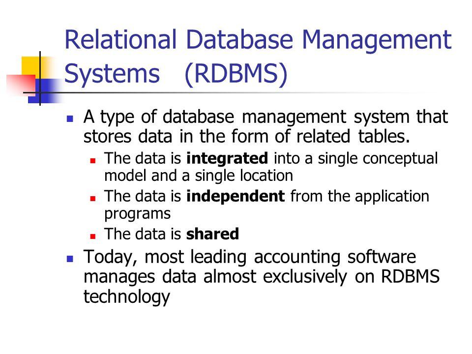 Relational Database Management Systems (RDBMS)