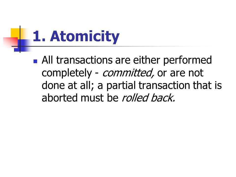 1. Atomicity