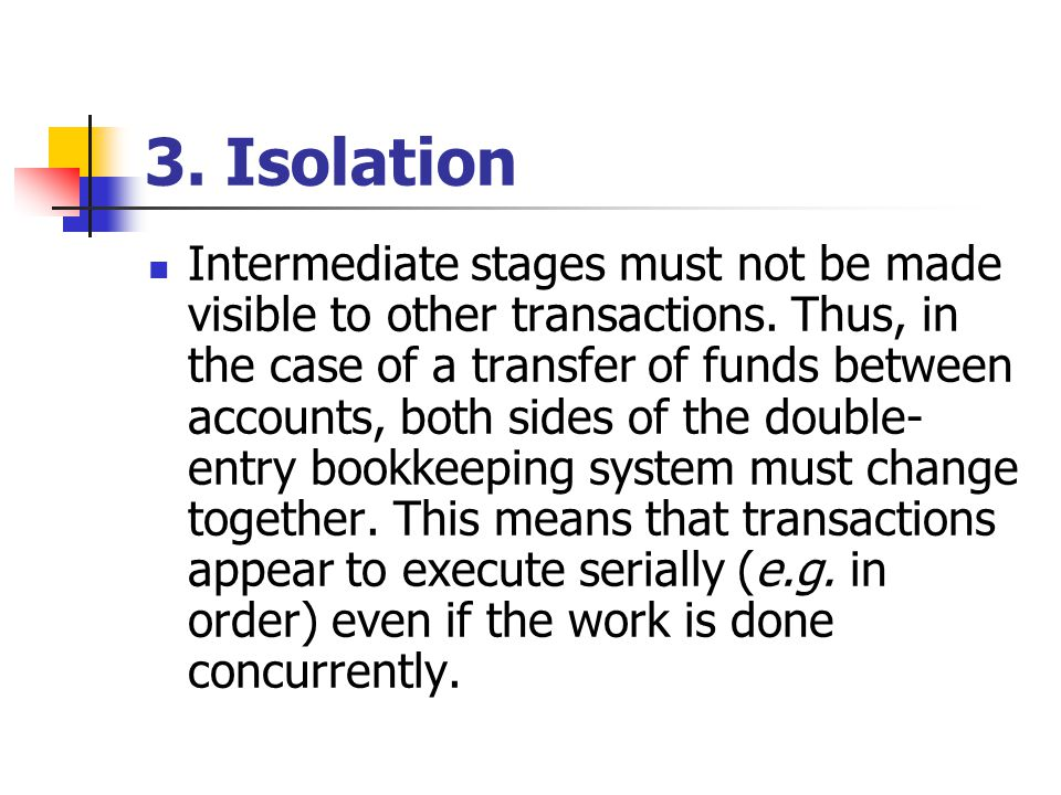 3. Isolation