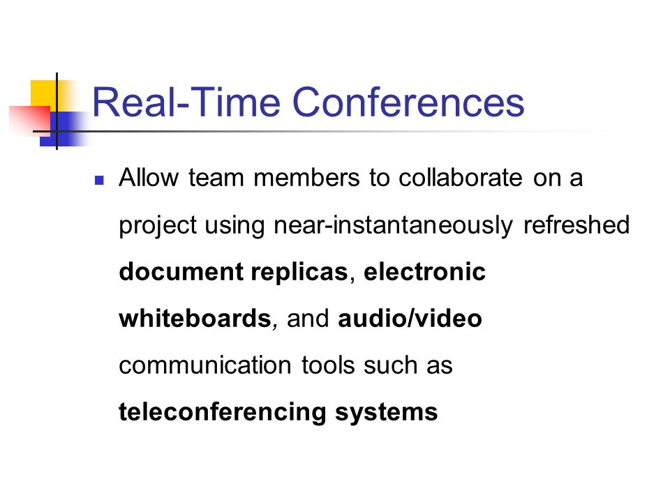 Real-Time Conferences