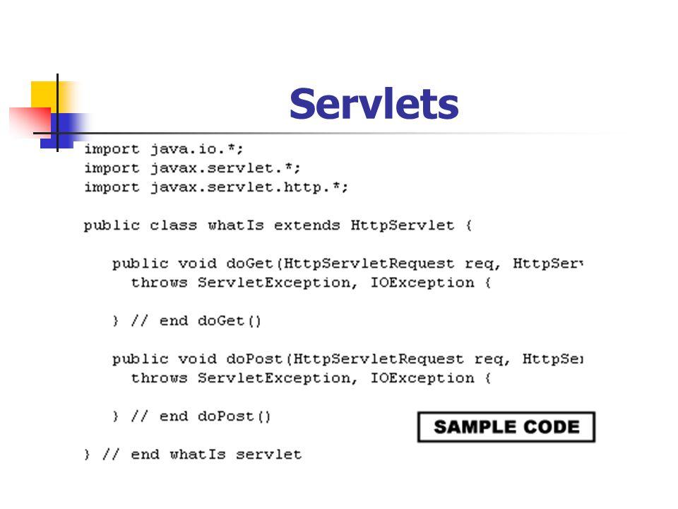 Servlets Servlets.