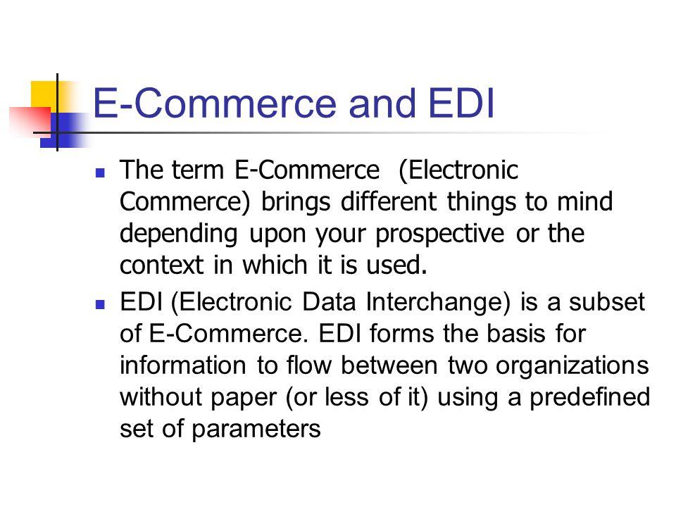 E-Commerce and EDI