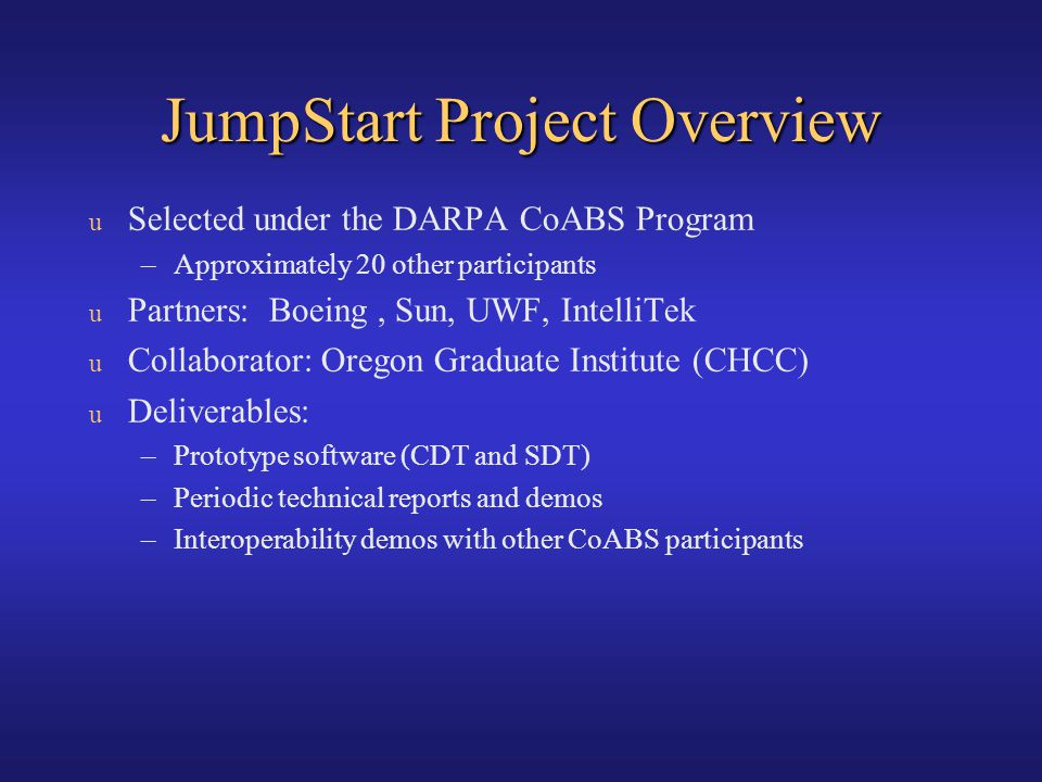 JumpStart Project Overview