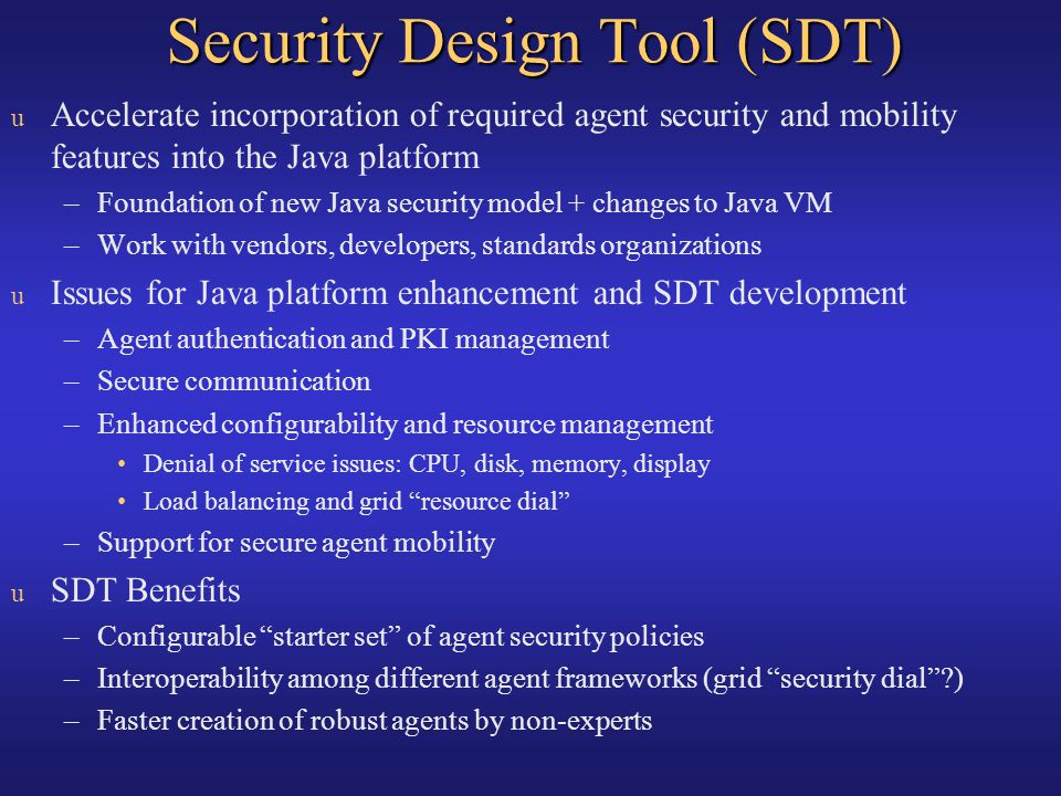 Security Design Tool (SDT)