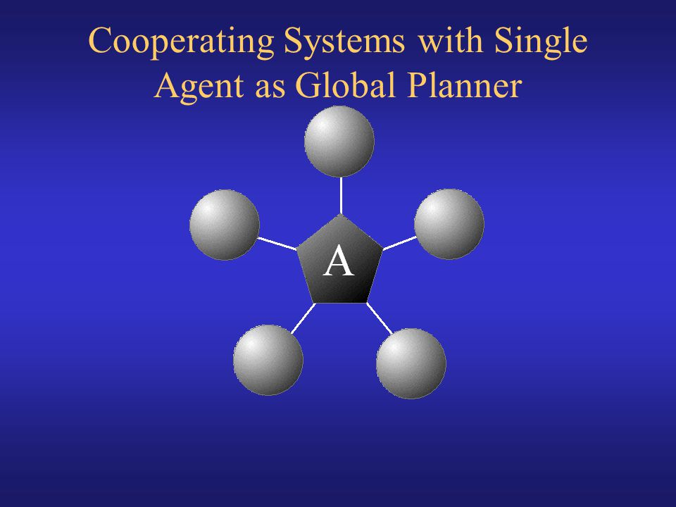 Cooperating Systems with Single Agent as Global Planner