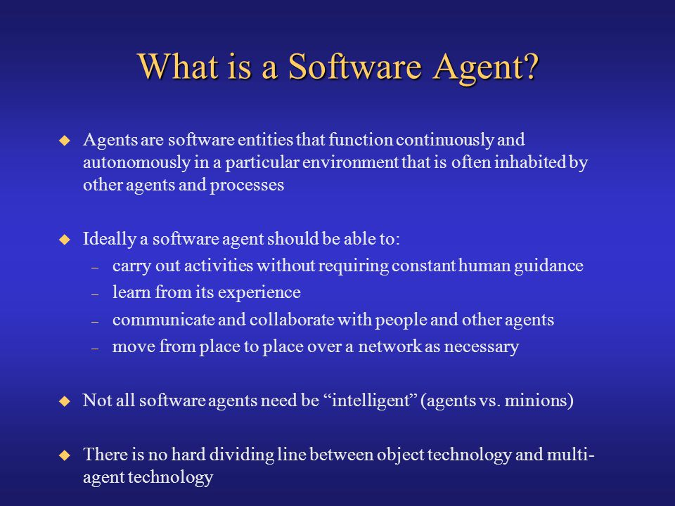 What is a Software Agent