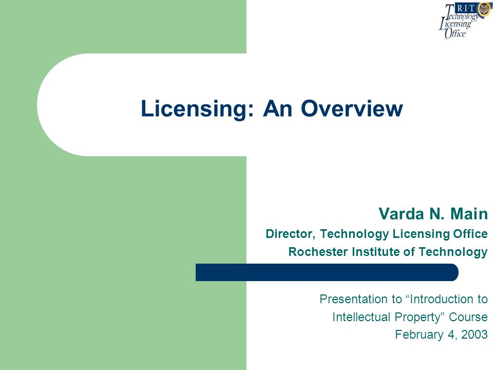 Licensing: An Overview