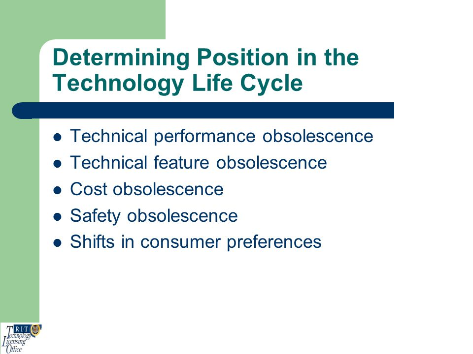 Determining Position in the Technology Life Cycle