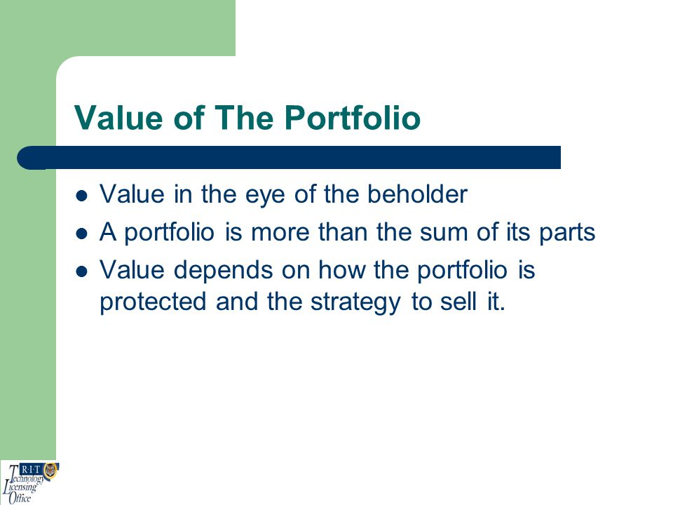 Value of The Portfolio Value in the eye of the beholder