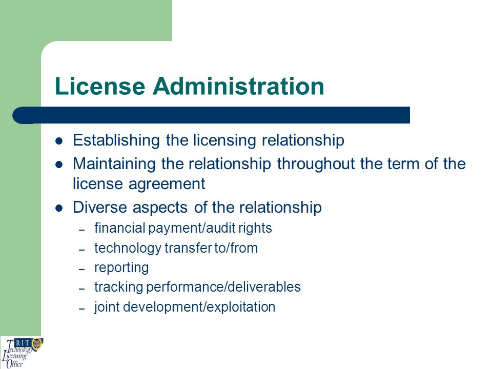 License Administration