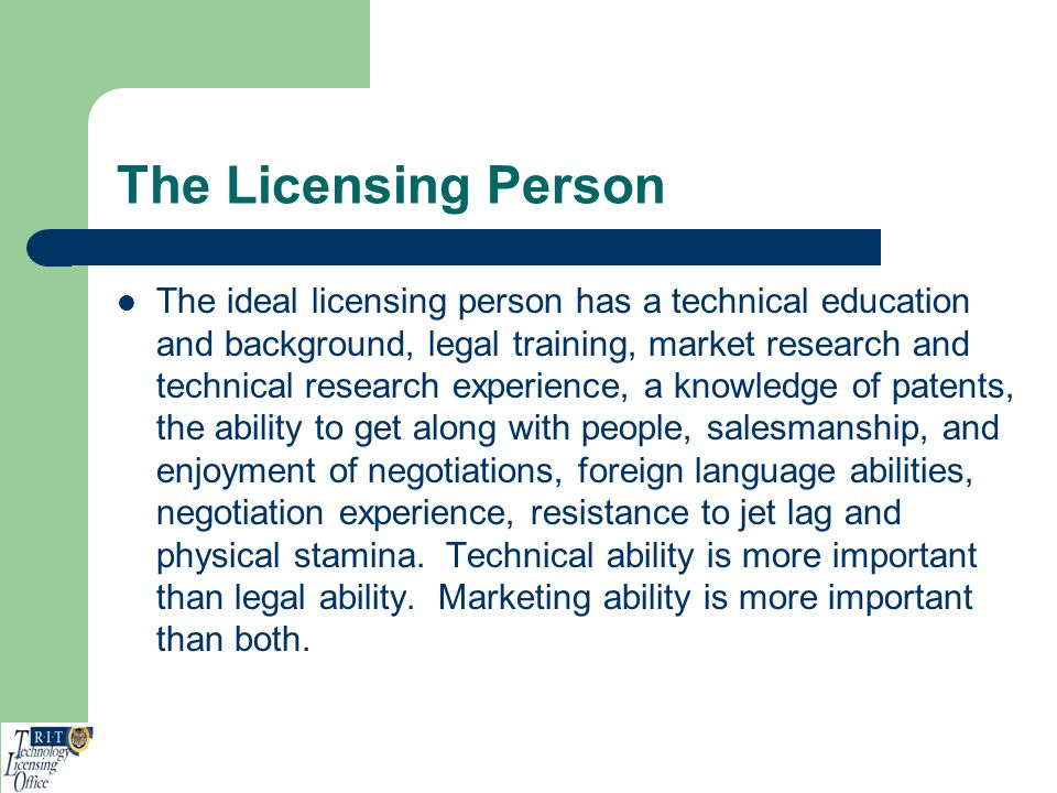 The Licensing Person