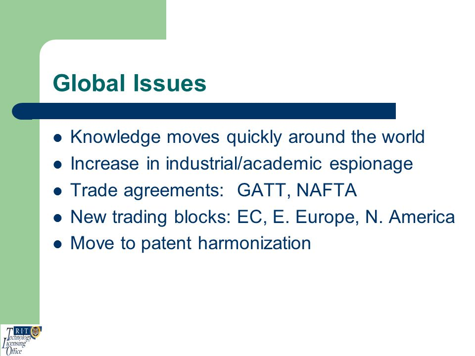 Global Issues Knowledge moves quickly around the world