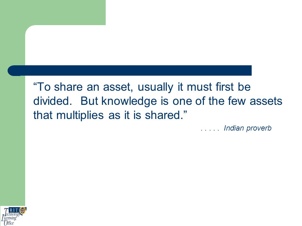 To share an asset, usually it must first be divided
