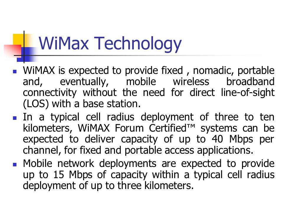 WiMax Technology