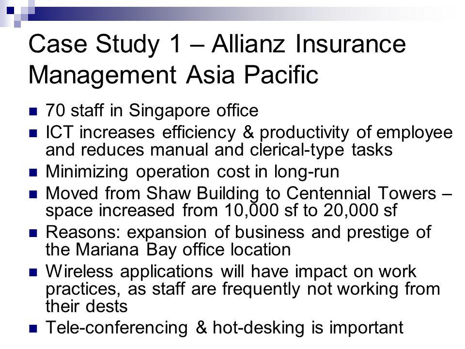 Case Study 1 – Allianz Insurance Management Asia Pacific