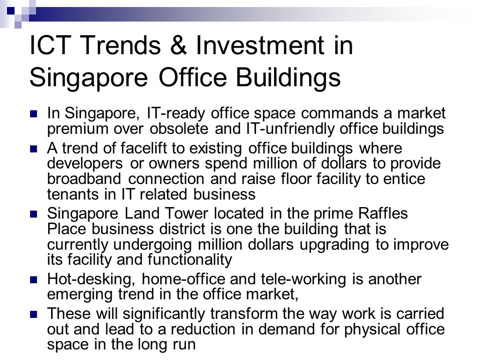 ICT Trends & Investment in Singapore Office Buildings