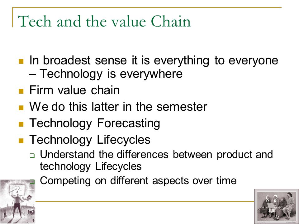 Tech and the value Chain