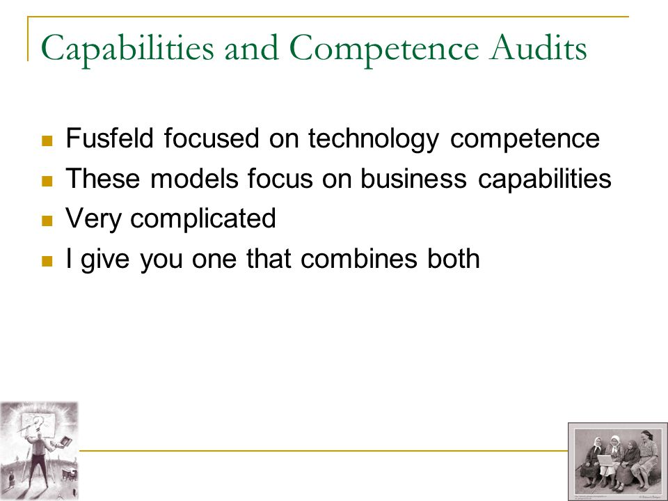 Capabilities and Competence Audits