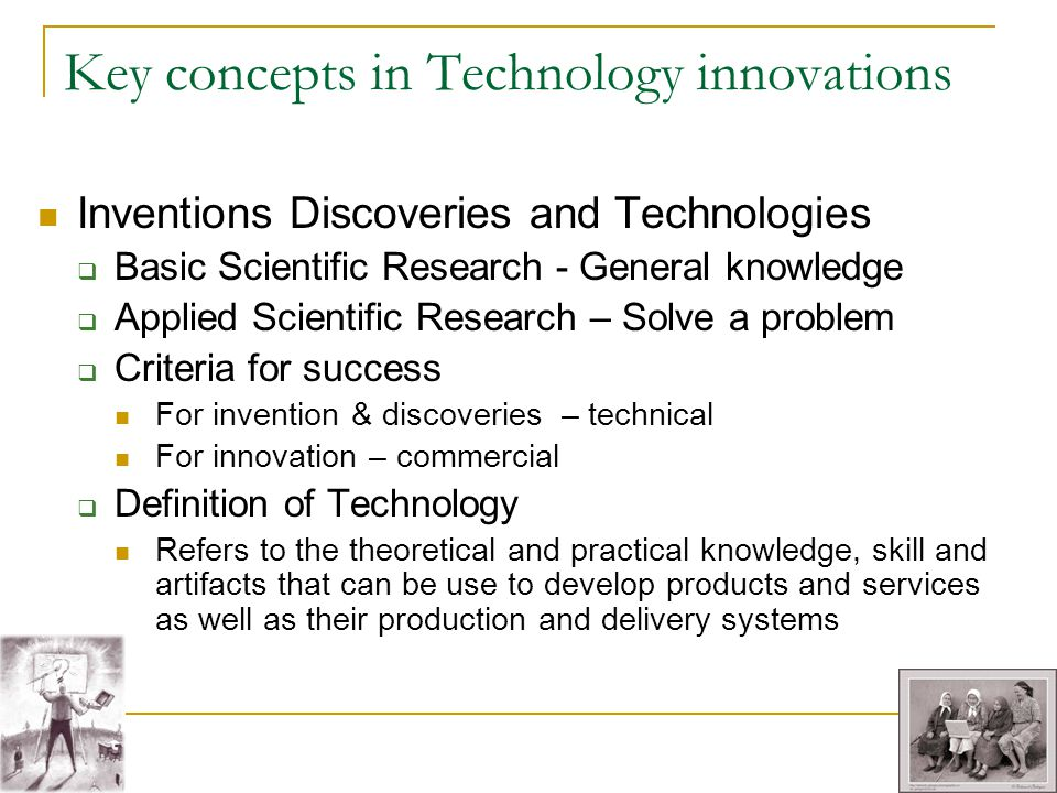 Key concepts in Technology innovations