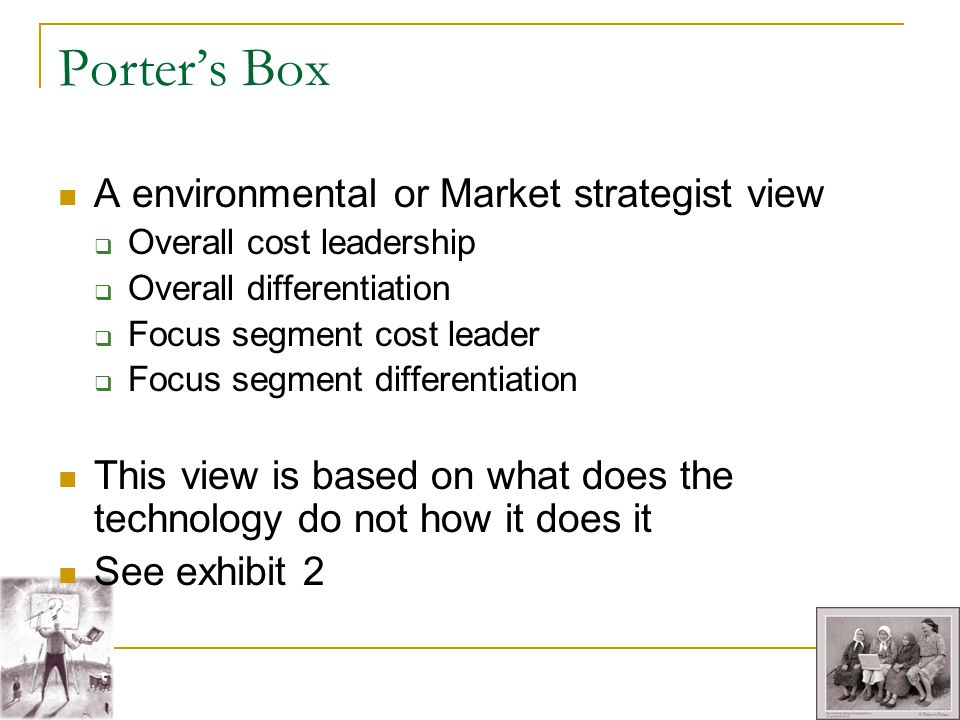 Porter's Box A environmental or Market strategist view