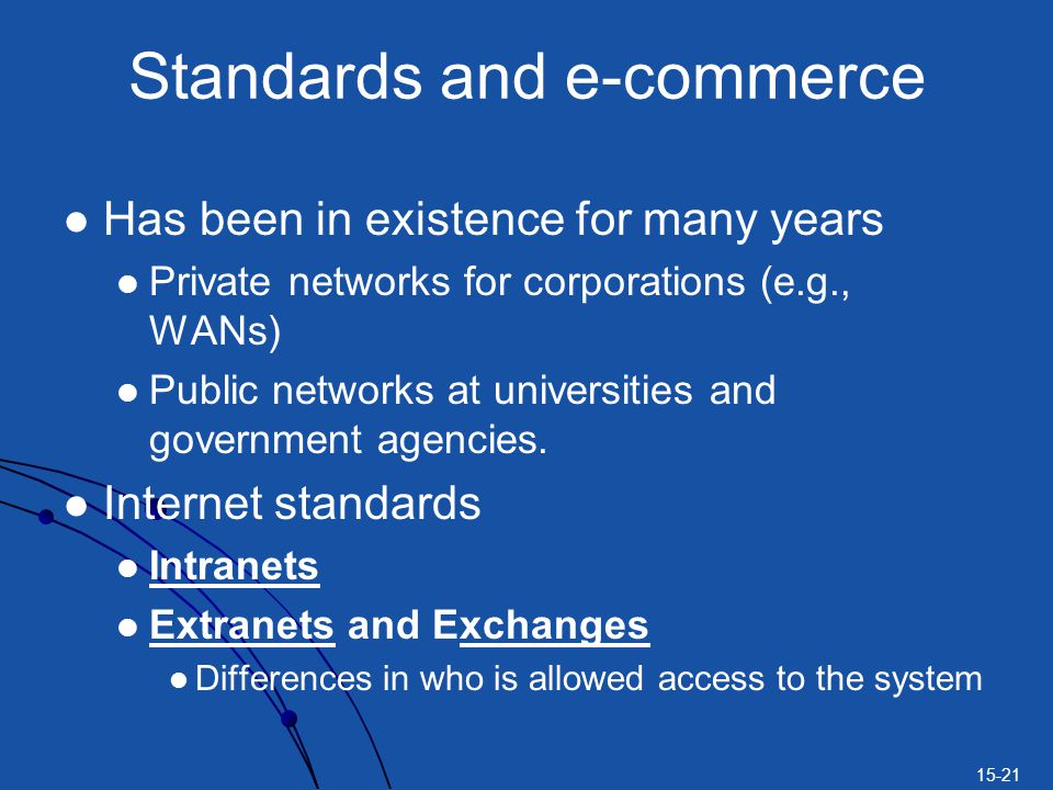 Standards and e-commerce