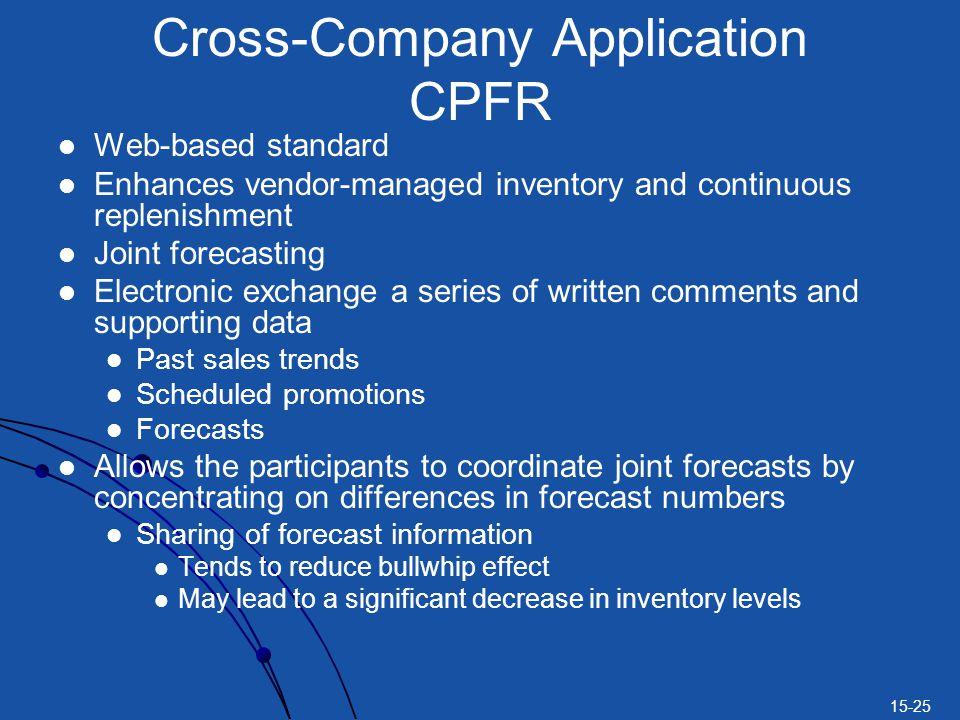 Cross-Company Application CPFR