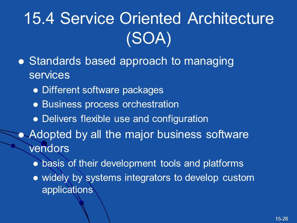 15.4 Service Oriented Architecture (SOA)
