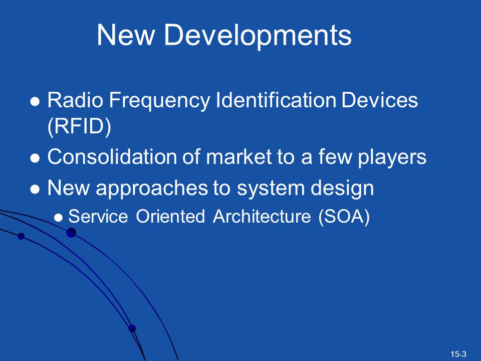 New Developments Radio Frequency Identification Devices (RFID)