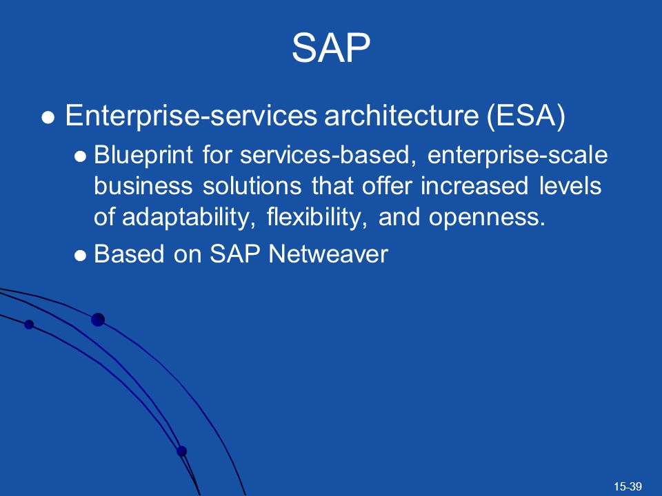SAP Enterprise-services architecture (ESA)