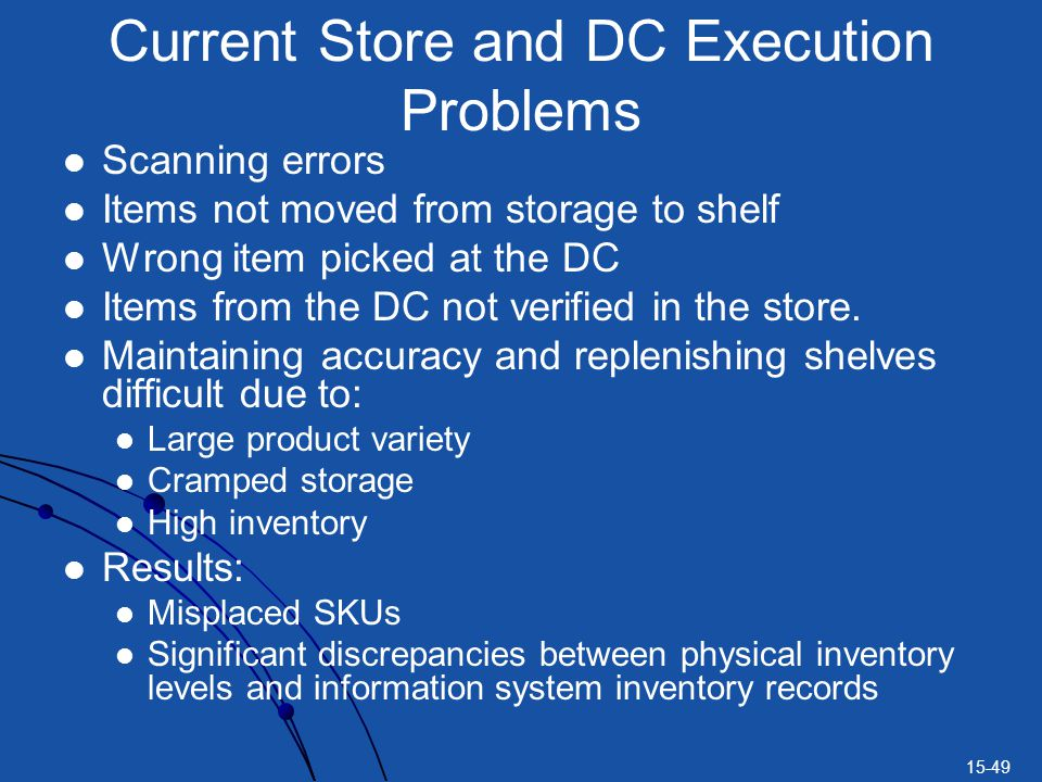 Current Store and DC Execution Problems