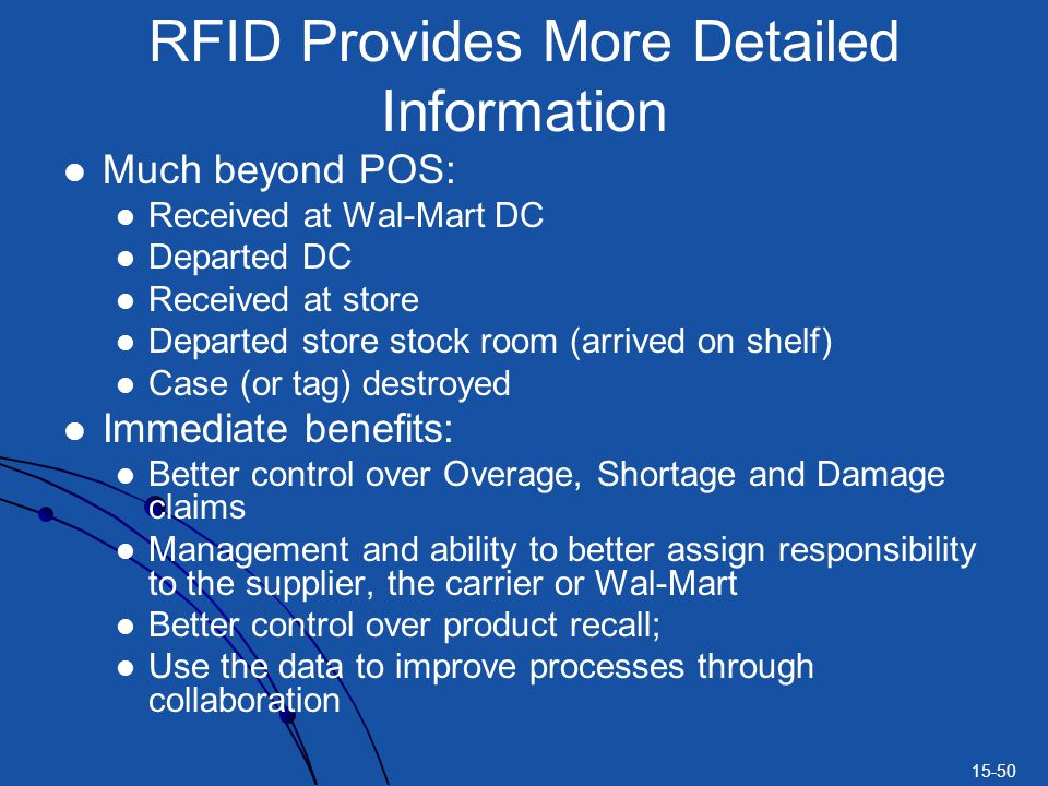 RFID Provides More Detailed Information