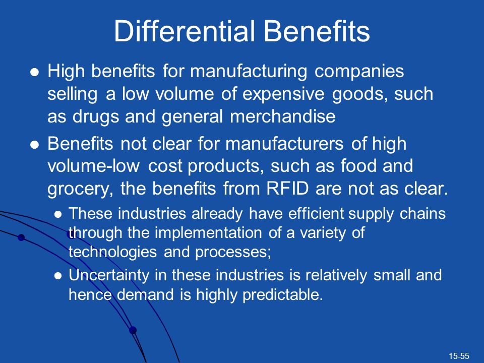 Differential Benefits