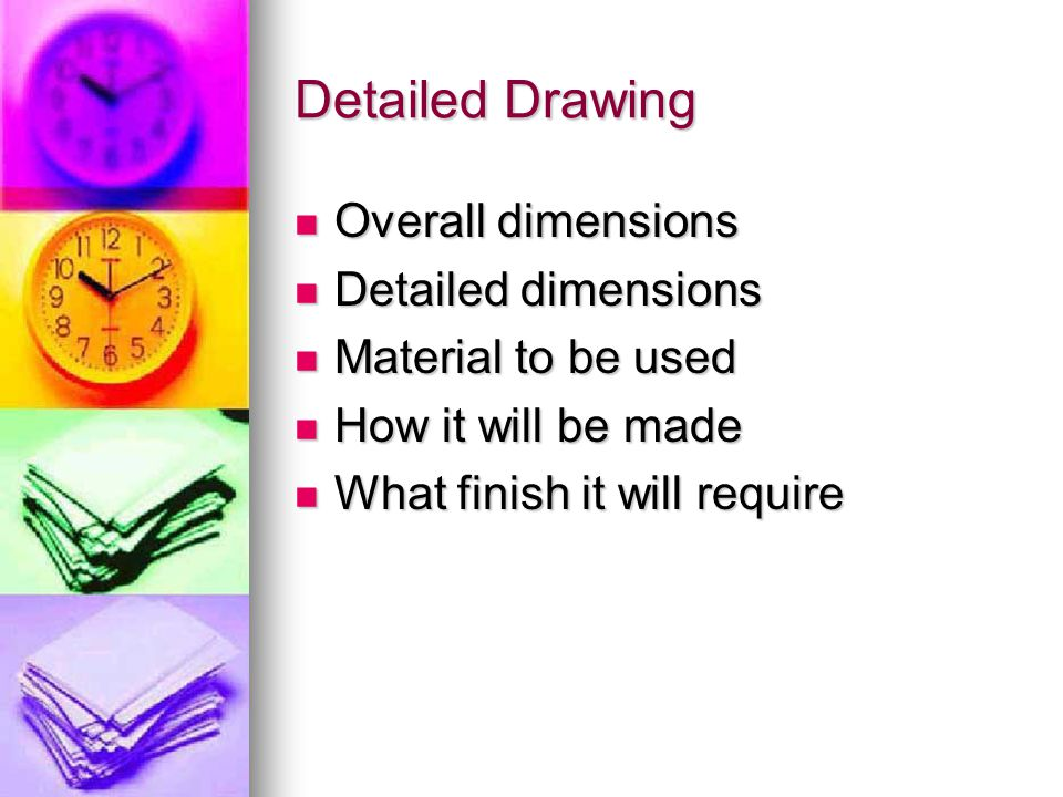 Detailed Drawing Overall dimensions Detailed dimensions