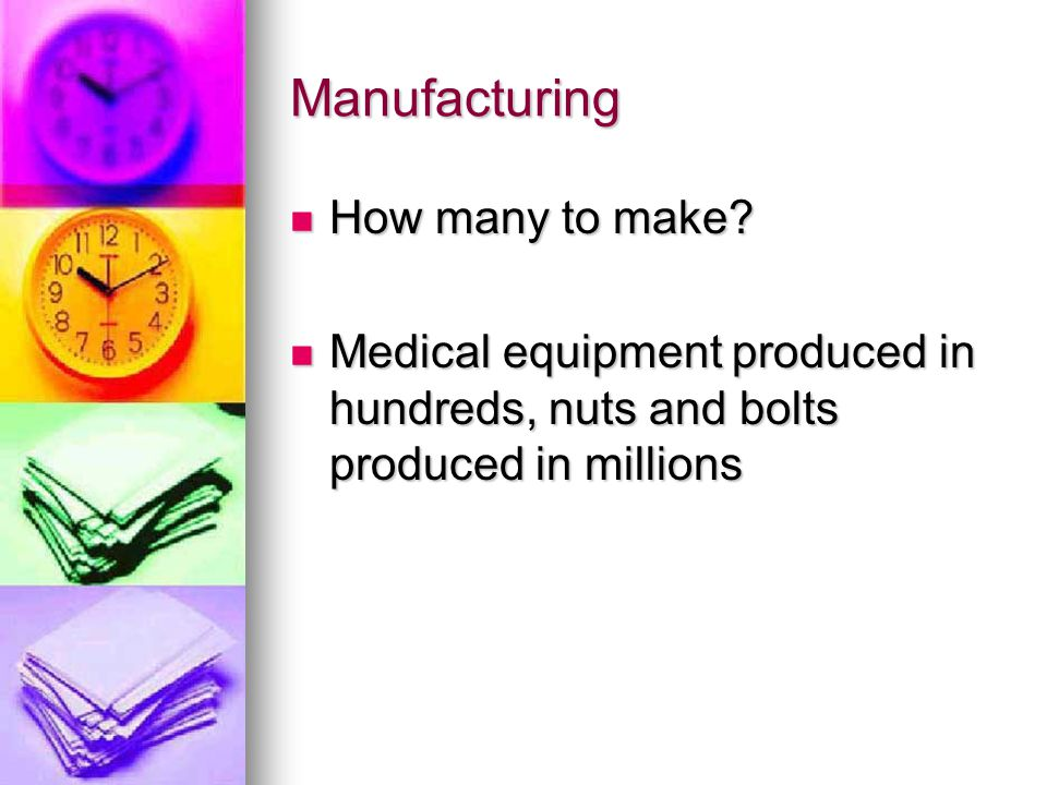 Manufacturing How many to make