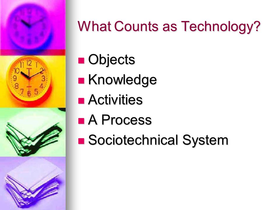 What Counts as Technology