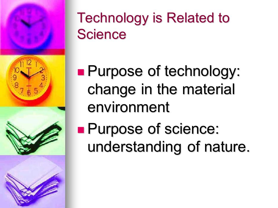 Technology is Related to Science