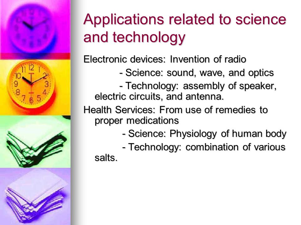 Applications related to science and technology