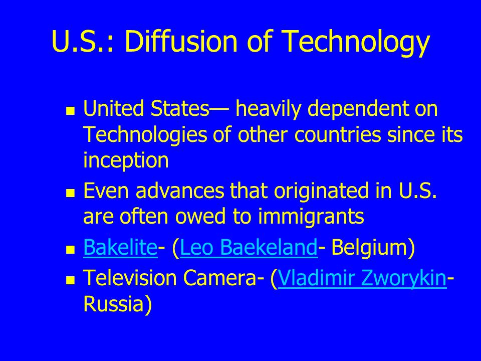 U.S.: Diffusion of Technology