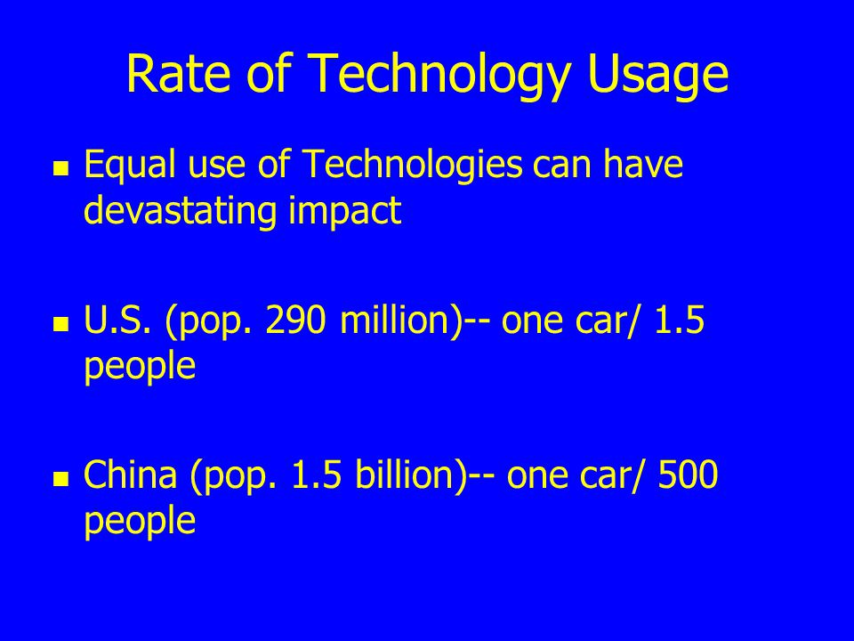 Rate of Technology Usage