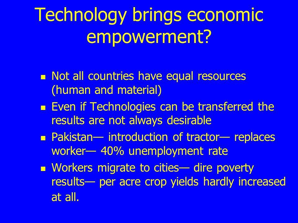 Technology brings economic empowerment